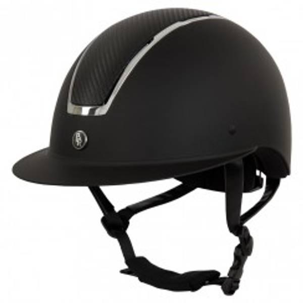 Bilde av BR ridehjem Helmet Omega Painted sort/krome